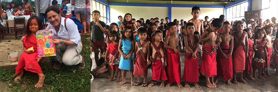 DSV Perú ofrece apoyo a niños de comunidad indígena