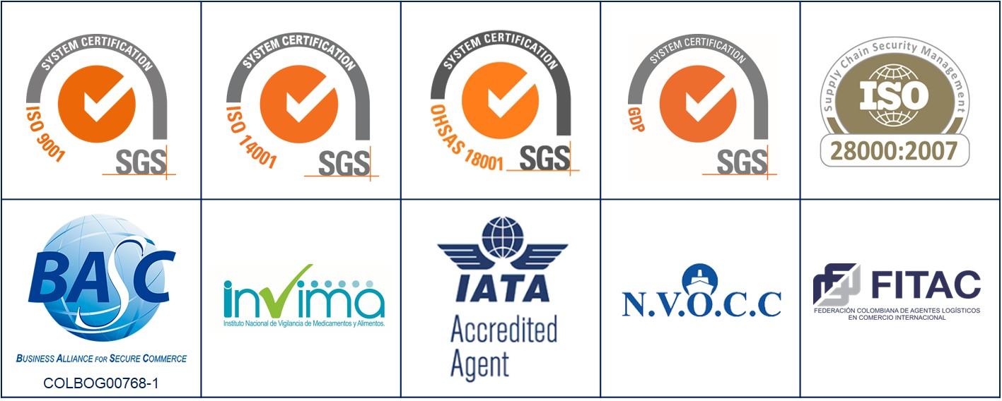 DSV Colombia - Certificaciones