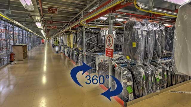 Virtual warehouse tour
