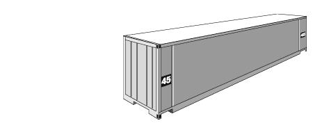 High cube (magas falú) száraz áru konténer