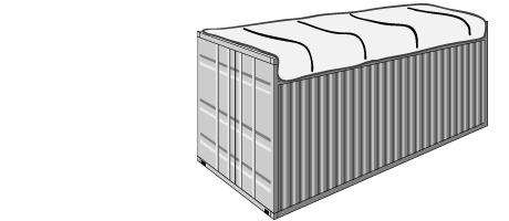 Open top (nyitott tetejű) konténerek
