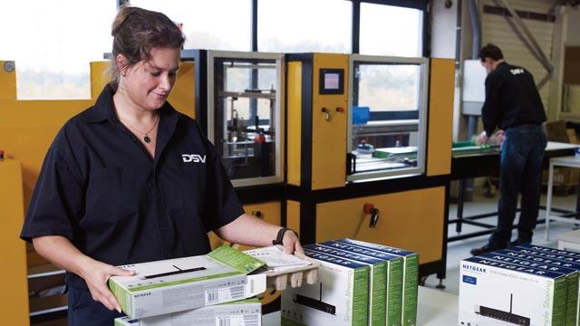 High-tech logistics brochure