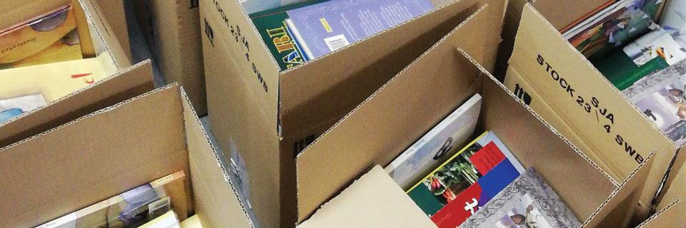 Shipment of books