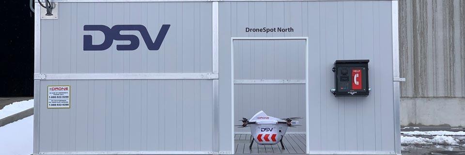 Lancement de drones
