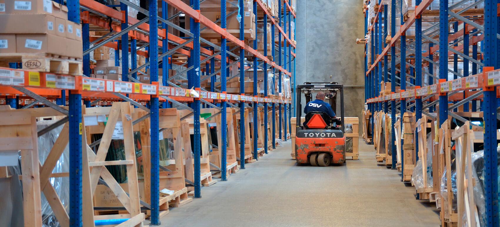Nyt 150.000 m2 stort lagerkompleks bliver DSV's største logistikhub i Norden.