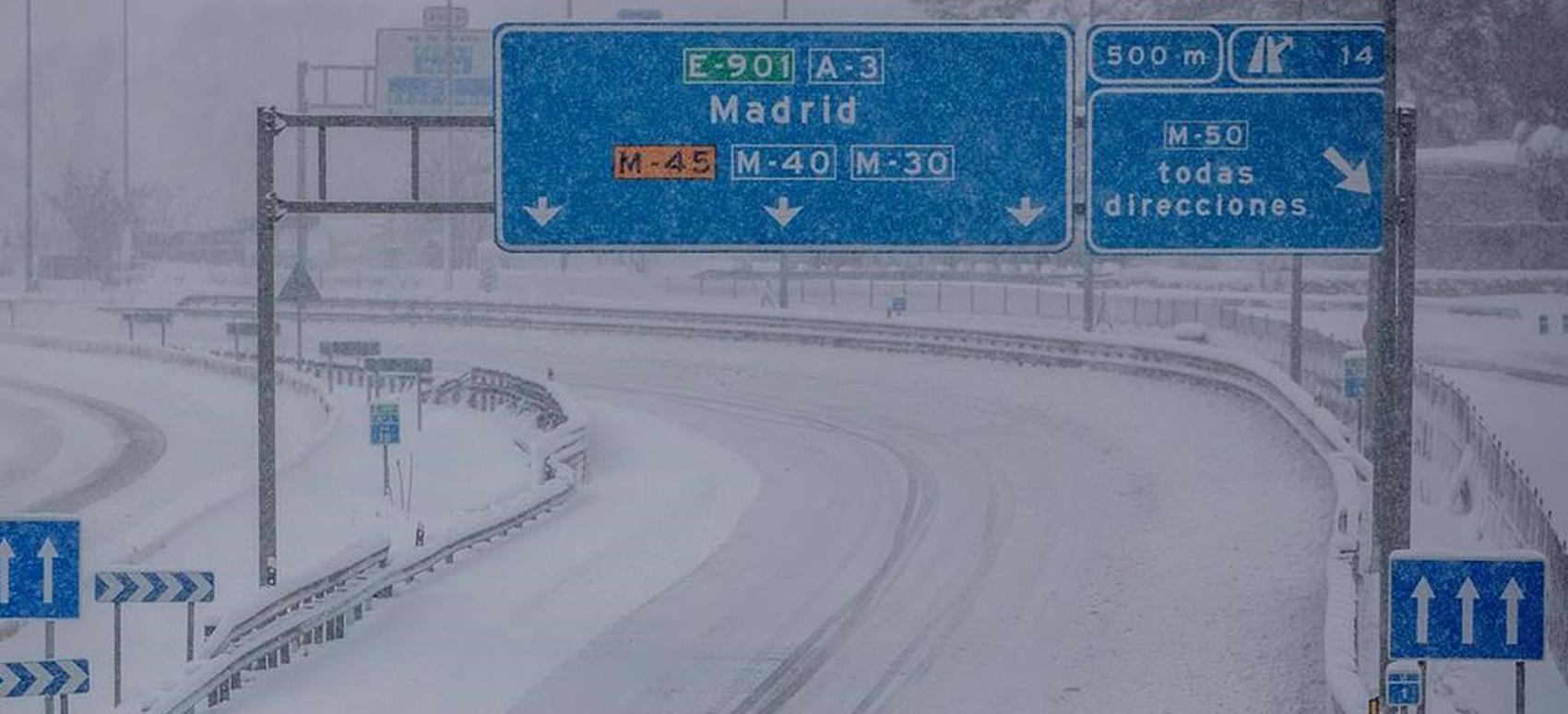 Blizzard in Spain