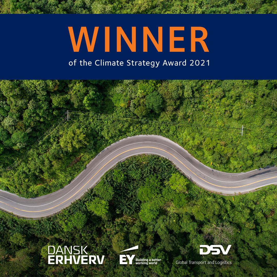 DSV wins Danish Climate Strategy Award