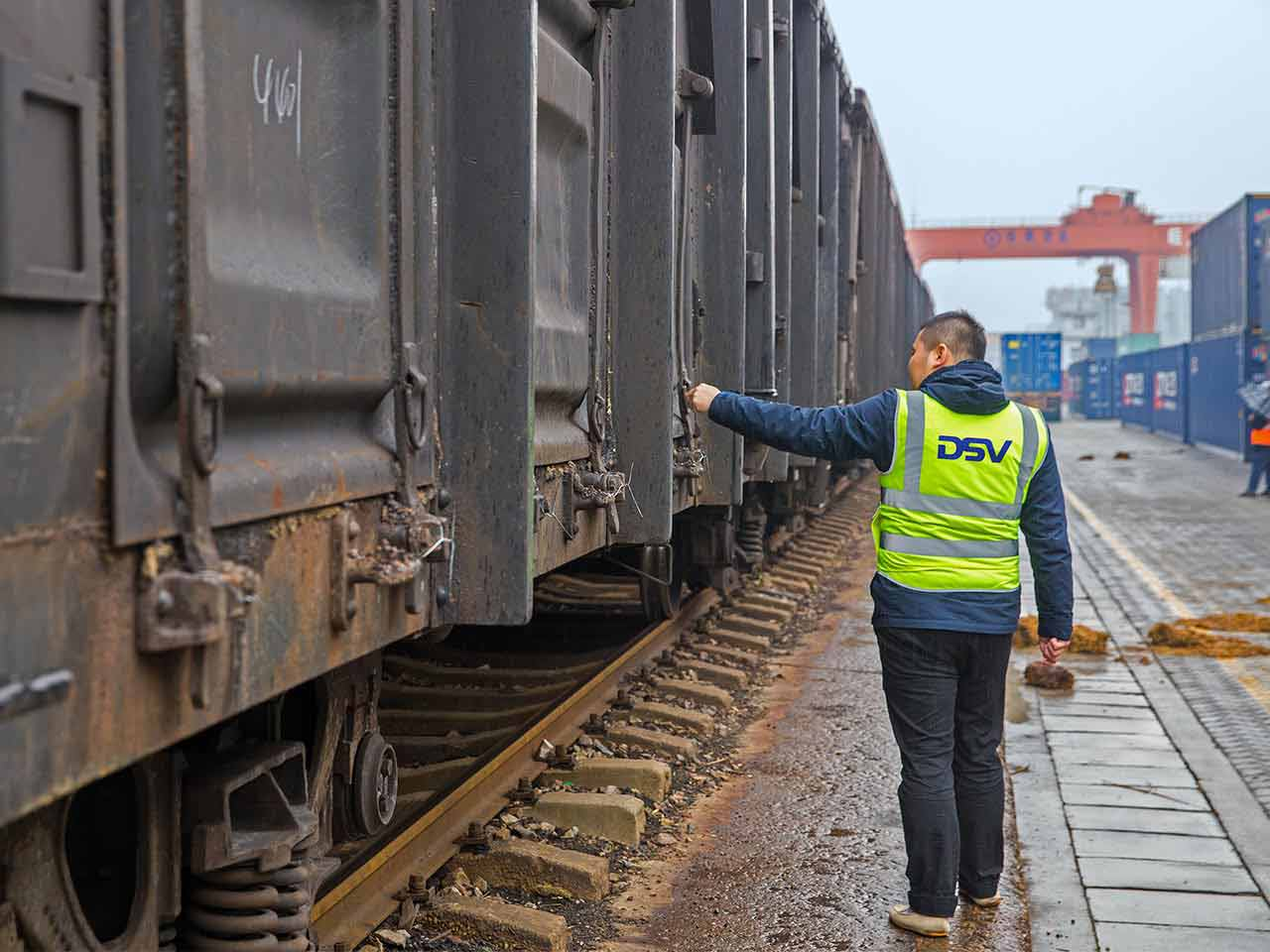 Rail freight from and to China