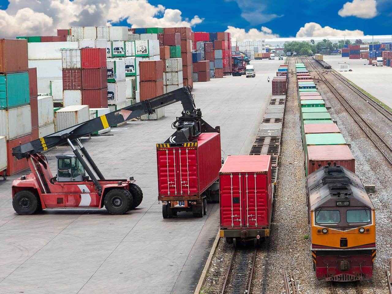 Multimodal rail / road transport in Europe