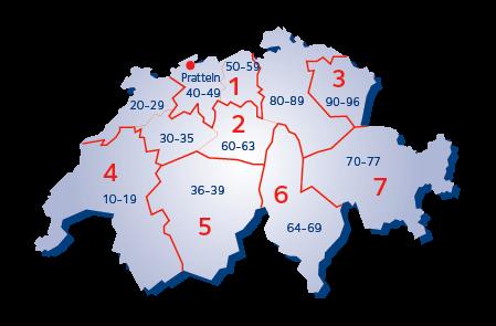 Terminaalialuekartta - Sveitsi