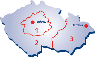 Map of CZ