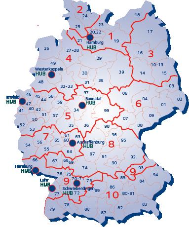 DE map