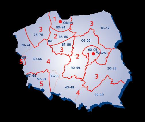 Puolan terminaalialuekartta
