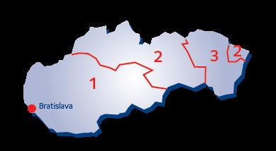 Terminaalialuekartta - Slovakia