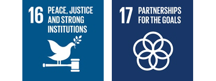 UN sustainability goals 16 and 17