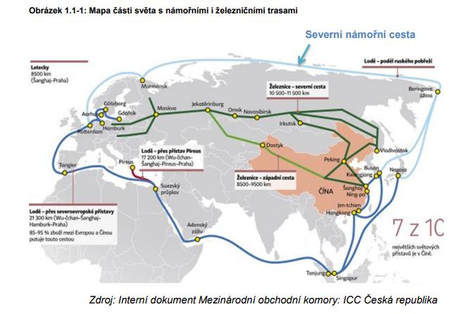 Železnice Čína trasa