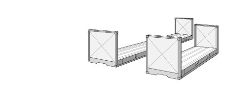 Flat-rack container