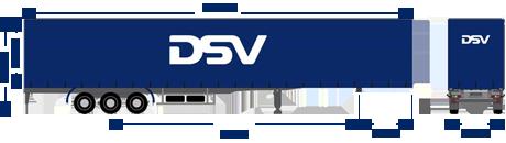 Curtain trailer DSV