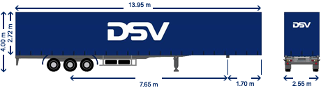 Curtain trailer DSV