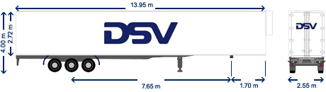 Temperatuur gecontroleerde trailer DSV