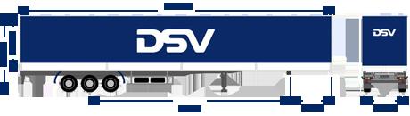 Tarpaulin trailer DSV